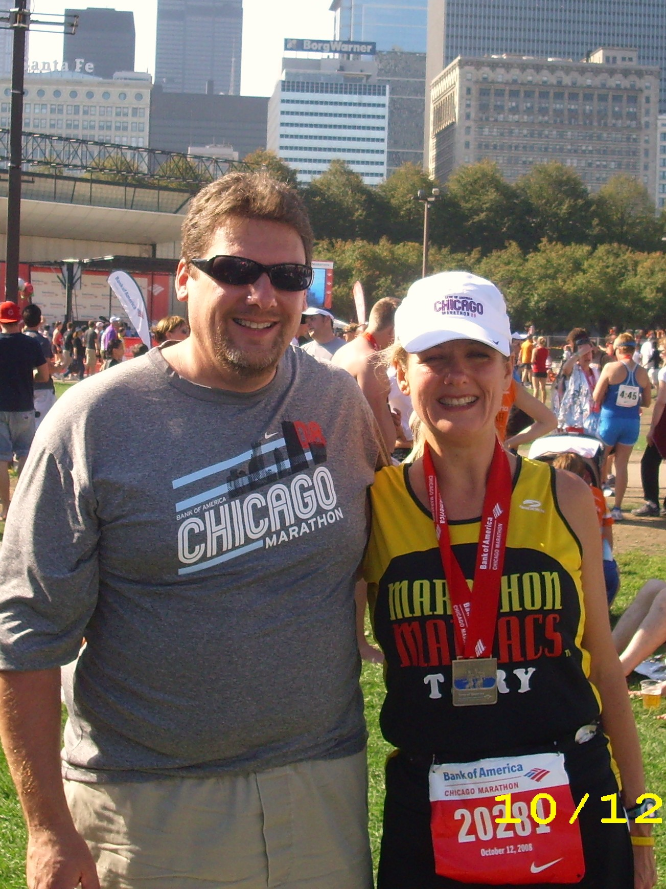Roy and I after Chicago Marathon